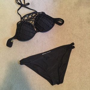Black Netted Bikini Set